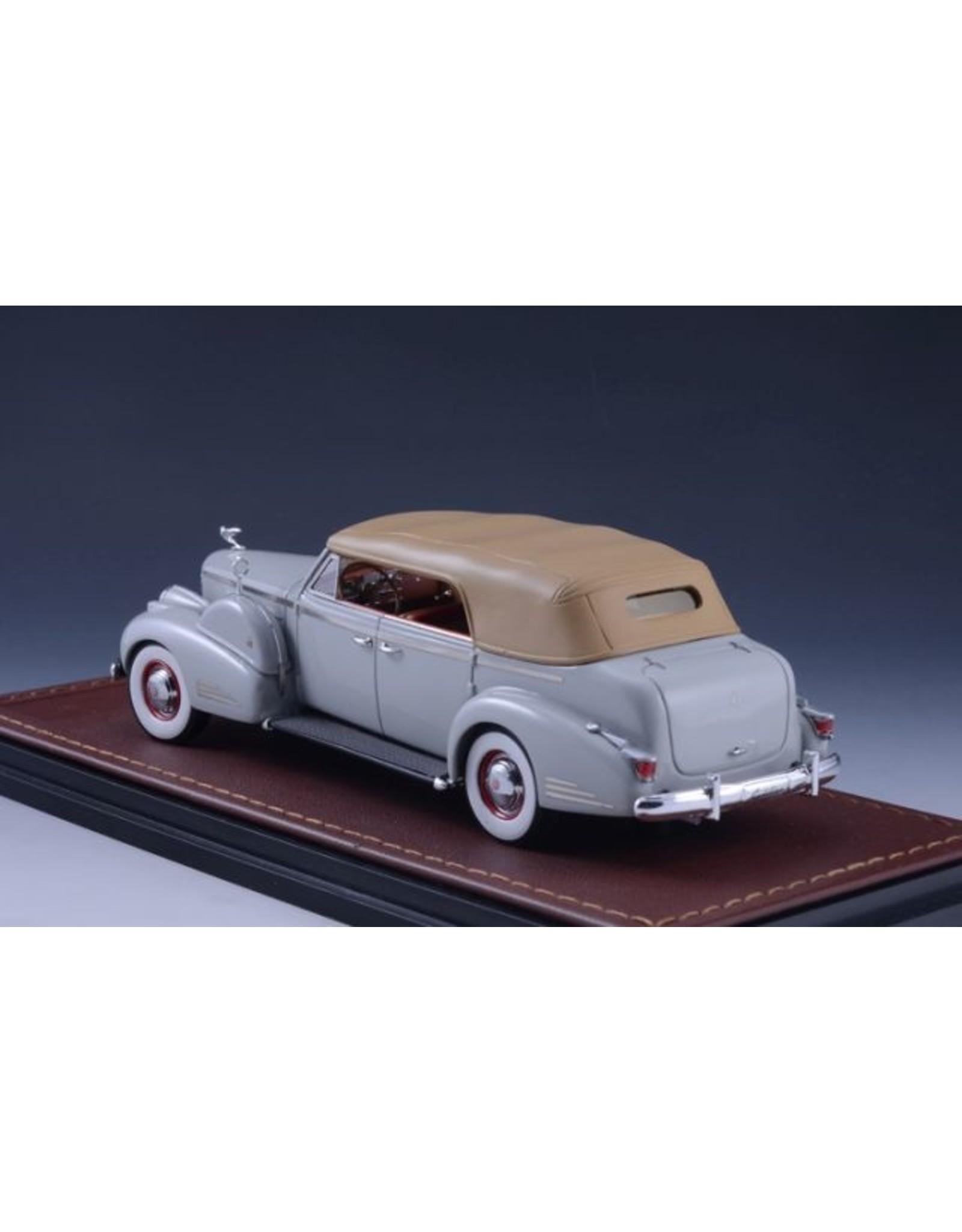 Cadillac(General Motors) CADILLAC V16 SERIES 90 FLEETWOOD SEDAN CONVERTIBLE-1938(grey)closed top.