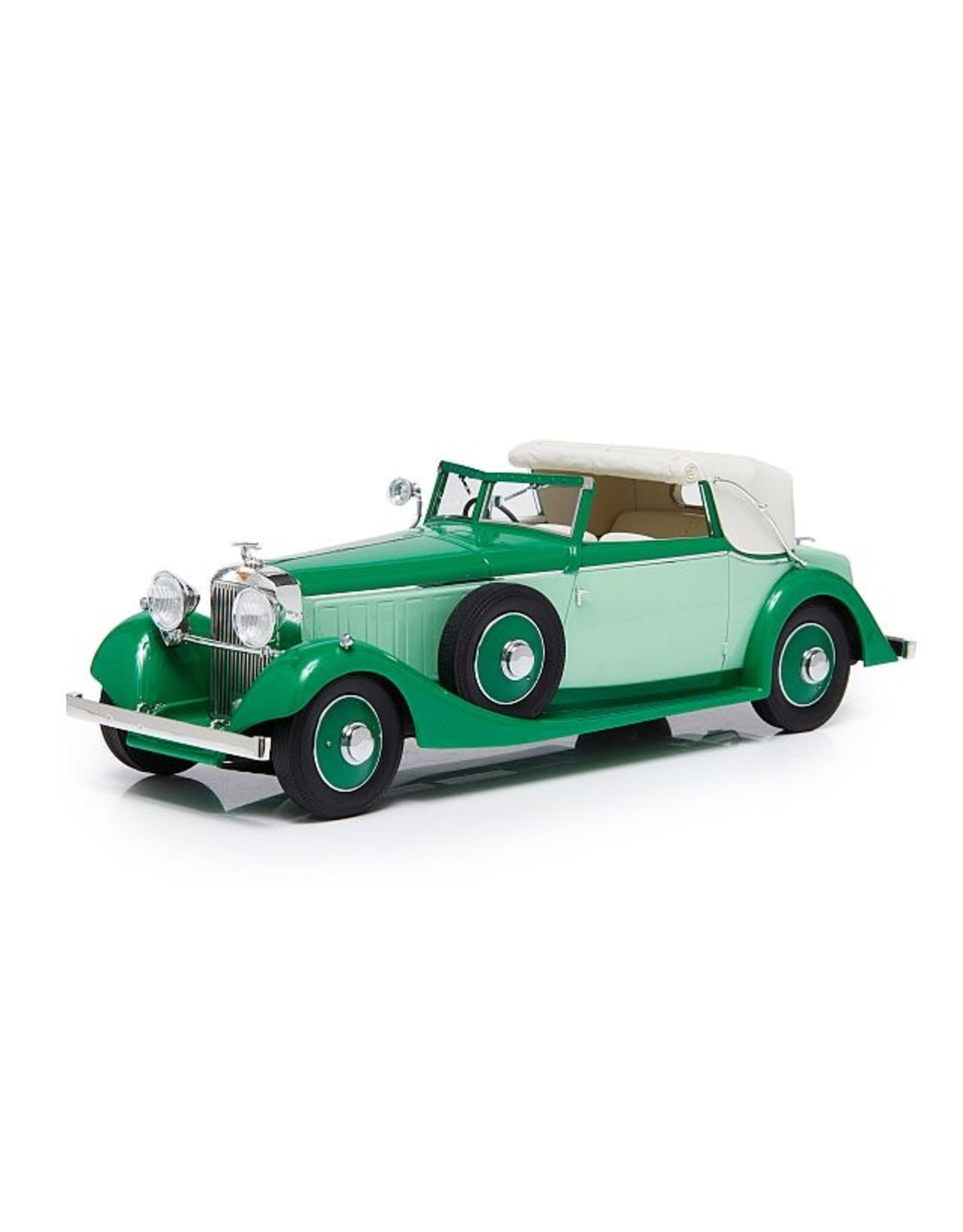 Hispano-Suiza by Fernandez & Darrin HISPANO SUIZA J12 THREE POSITION DROPHEAD COUPE BY FERNANDEZ & DARRIN-1934(half open)2 tones green.