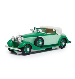 Hispano-Suiza by Fernandez & Darrin HISPANO SUIZA J12 THREE POSITION DROPHEAD COUPE BY FERNANDEZ & DARRIN-1934(half open)2 tones green.