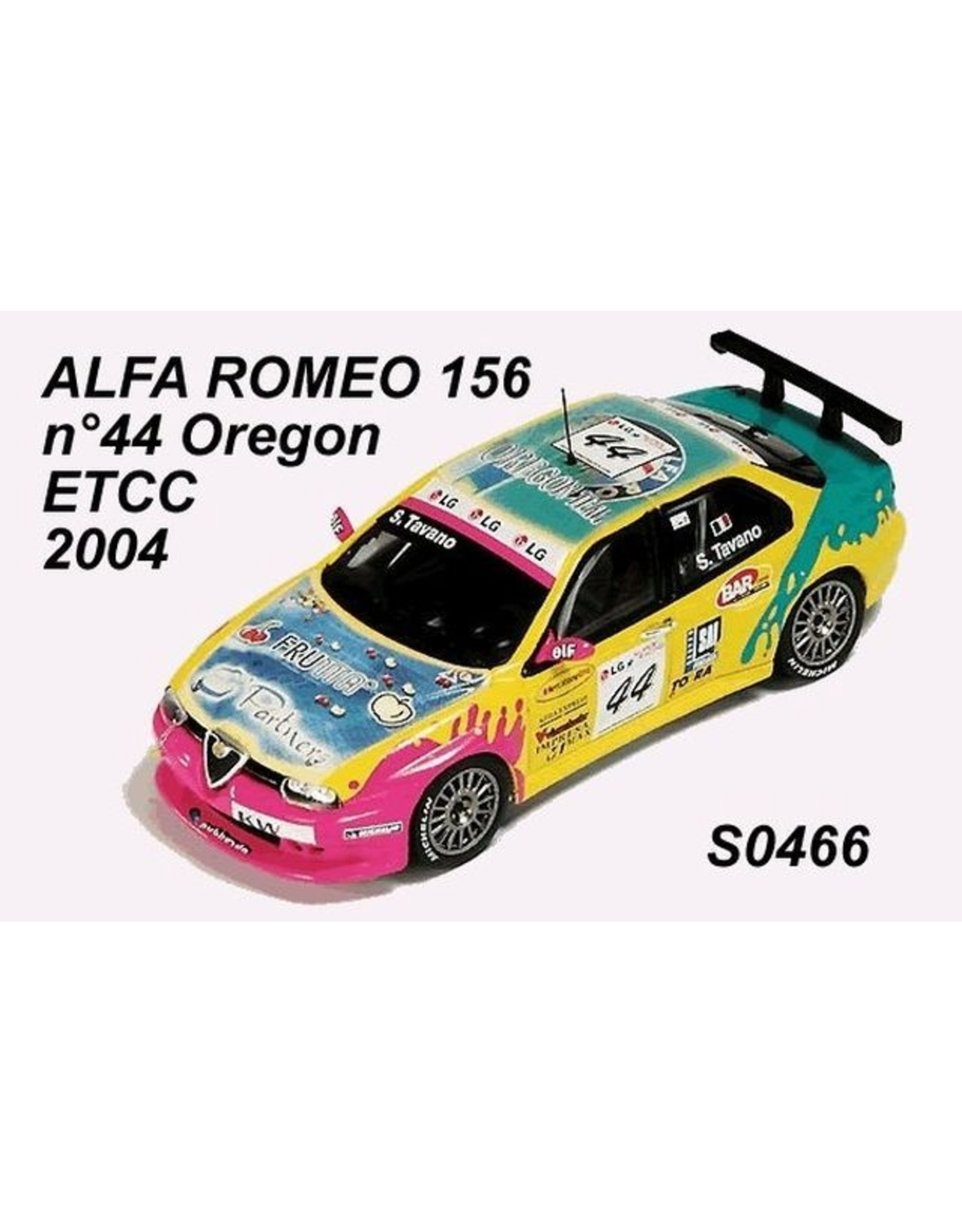 Alfa Romeo ALFA ROMEO 156 GTA #44(S.Tavano)TEAM OREGON ETCC 2004