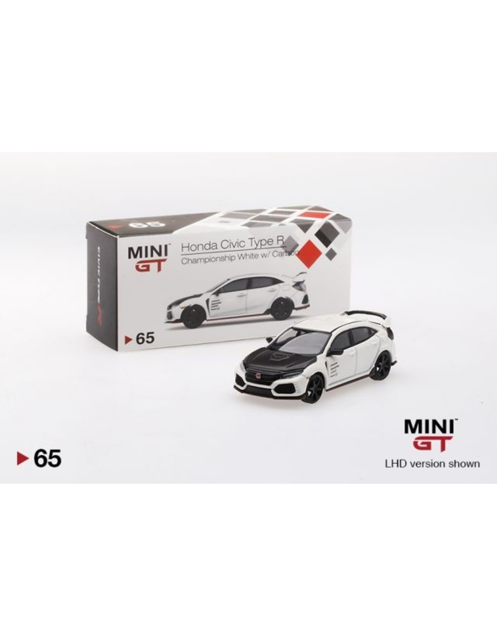 Honda HONDA CIVIC TYPE R(FKJ)championship white with carbon kit