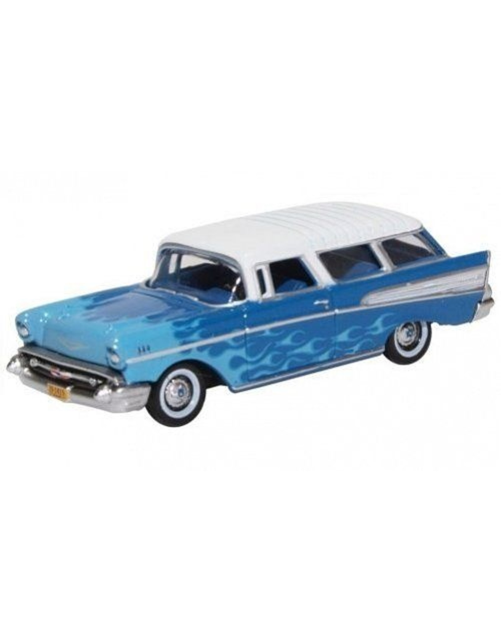 Chevrolet CHEVROLET NOMAD 1957 HOT ROD(two tones blue/white roof)