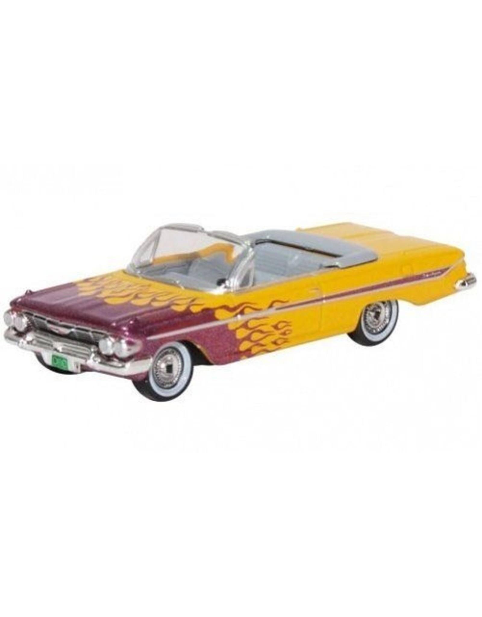 Chevrolet CHEVROLET IMPALA CONVERTIBLE(yellow/violet metallic)HOT ROD-1961