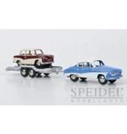 Wartburg,Trabant WARTBURG 311 COUPE + CAR TRAILER WITH TRABANT P50