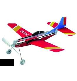 Zweefvliegtuig S.312 TUCANO ZWEVER MET GUMMI MOTOR