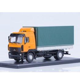 MAZ(Minski Avtomobilnyi Zavod) MAZ-5340 FLATBED TRUCK WITH TILT(orange/green)