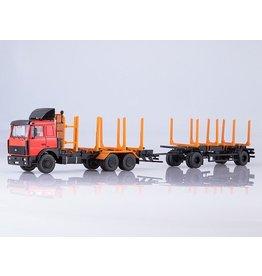 MAZ(Minski Avtomobilnyi Zavod) MAZ 6303 WOOD TRANSPORTER WITH TRAILER