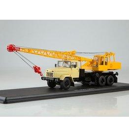 KrAZ TRUCK CRANE KS-4561(KRAZ-250)beige/yellow