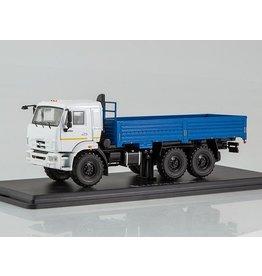 KAMAZ KAMAZ-43118 FLATBED TRUCK(facelift)white/blue