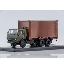 KAMAZ KAMAZ-53212 WITH 20ft.CONTAINER(khaki/brown)