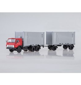 KAMAZ KAMAZ-55312 CONTAINER TRUCK WITH GKB-8350 TRAILER