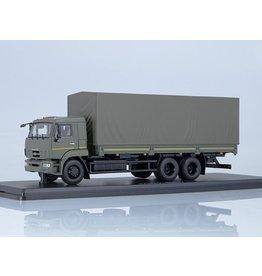 KAMAZ KHAMAZ-65117 FLATBED TRUCK WITH TILT(facelift)khaki