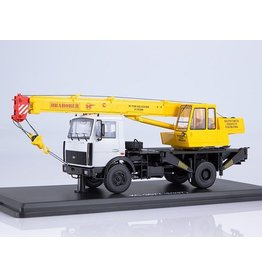 "MAZ(Minski Avtomobilnyi Zavod) KS 3577 CRANE TRUCK(MAZ-5337,new version)""Ivanovets""(grey/yellow)"