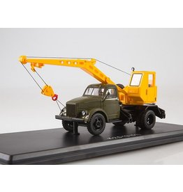 GAZ Truck crane K-2,5-1E(GAZ-51)khaki/yellow.