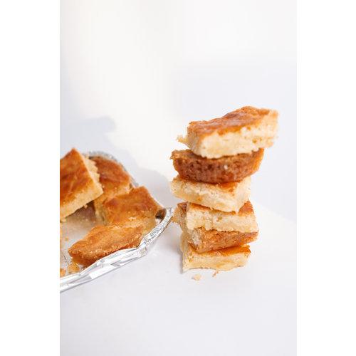 Boterkoek glutenvrij gebakken door Abel: het cadeau door de brievenbus