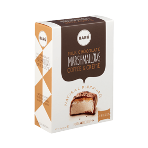 BARÚ BARÚ Milk Chocolate 'Coffee & Cream'  Marshmallows - 60g