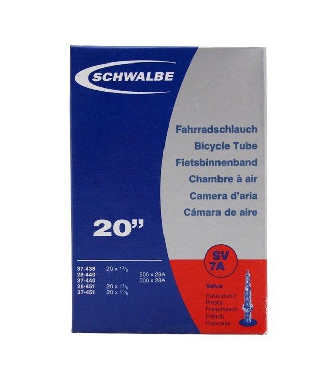 Schwalbe  binnenband 20x 1 3/8  (40/50-406) SV7A