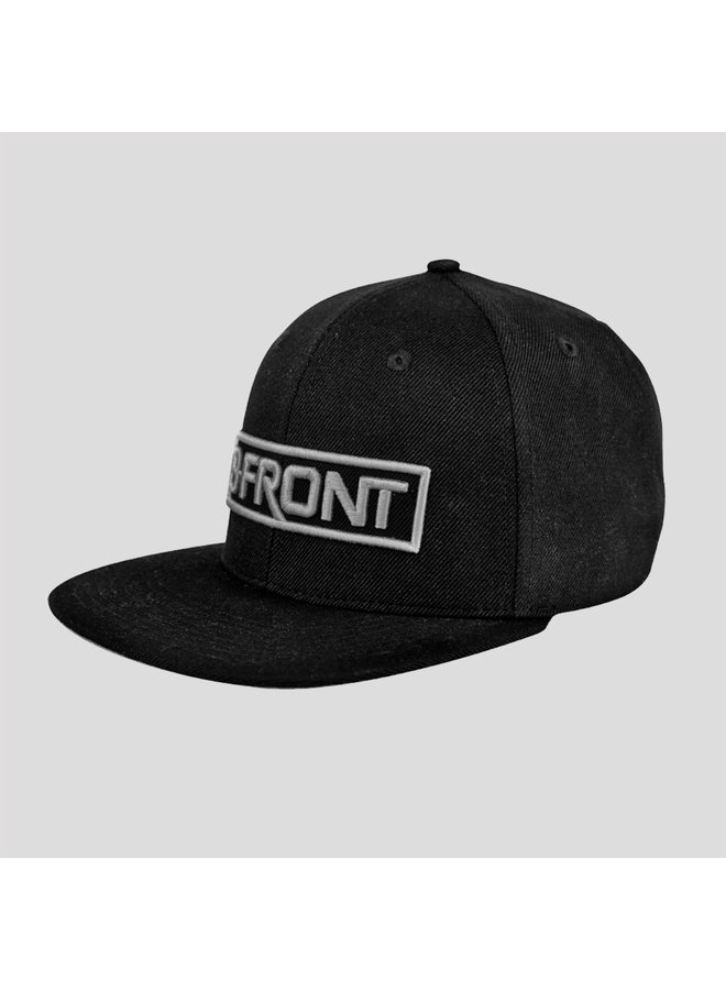 B-Front snapback black/grey