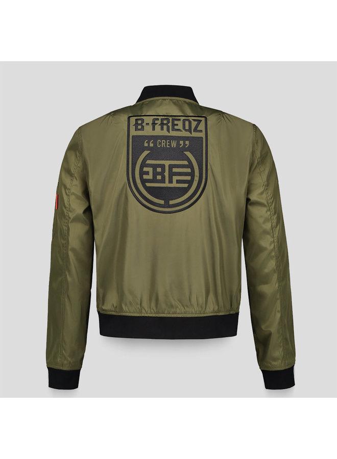 B-Freqz bomber army green/black
