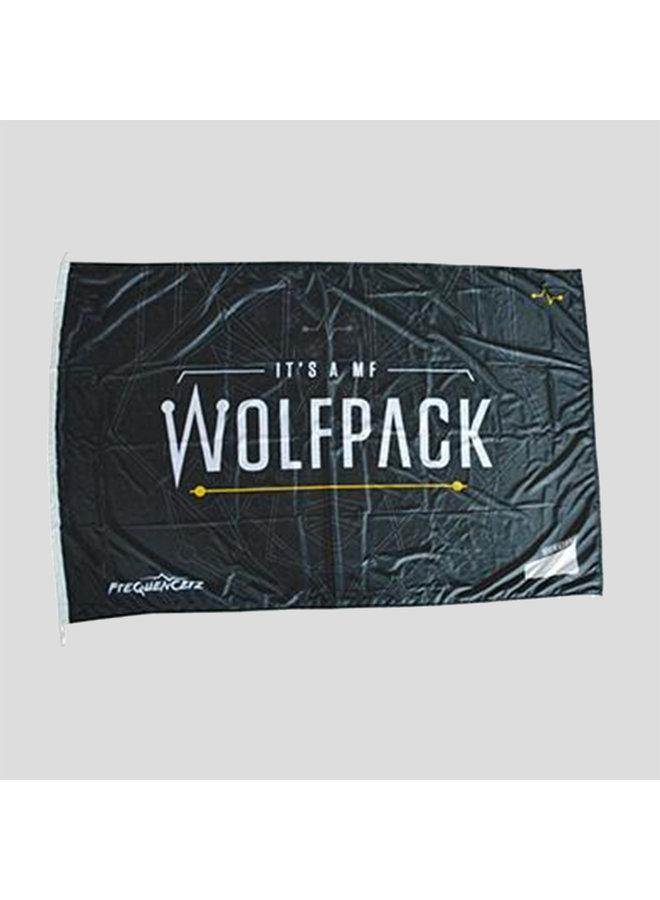 Wolfpack flag black