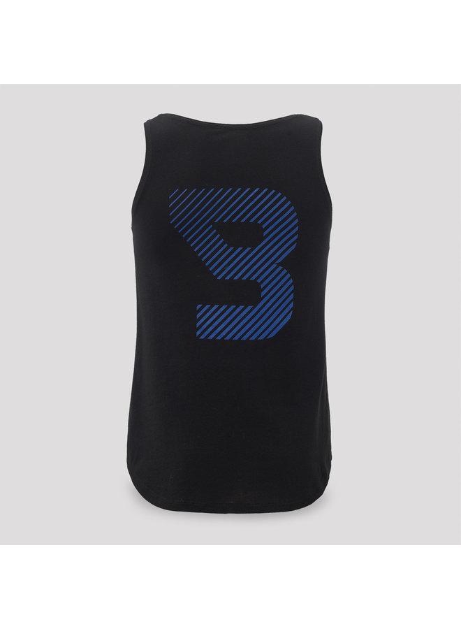 B-Front tanktop black/blue