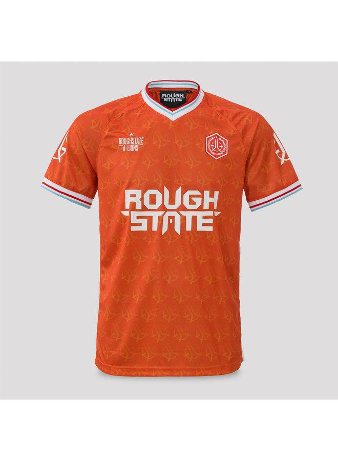 Roughstate football shirt orange/white