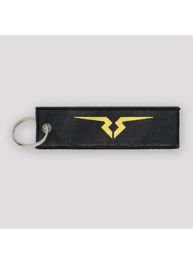 Rejecta keychain black/yellow