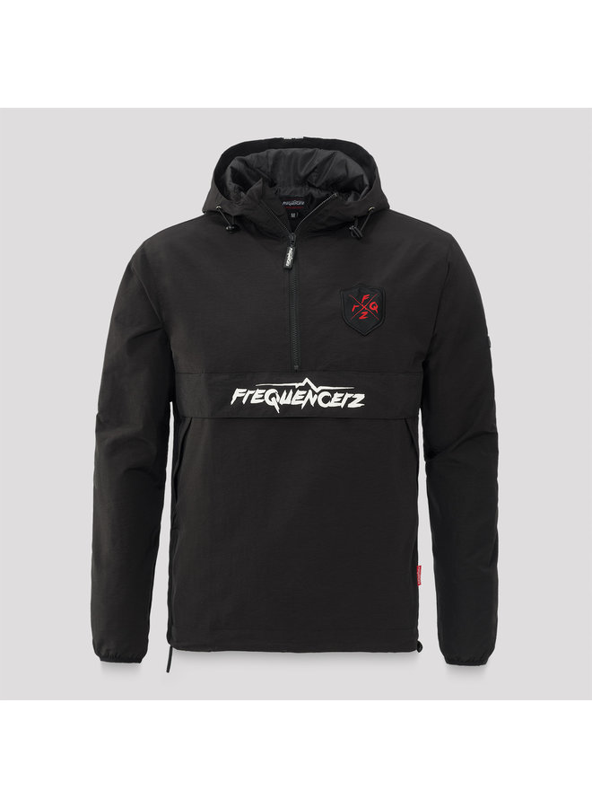 Frequencerz wind jacket black/white