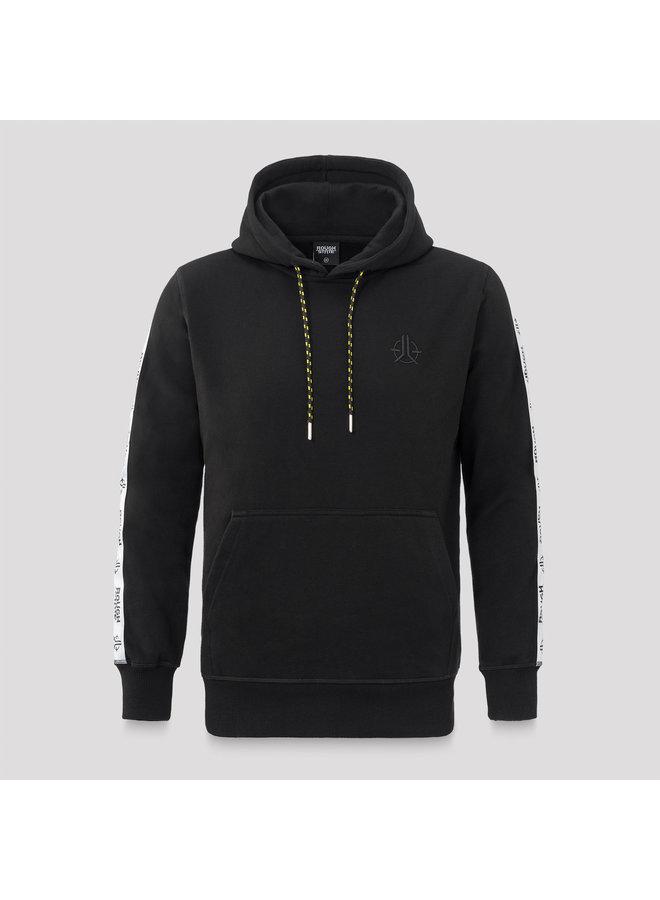 Roughstate hoodie black/white