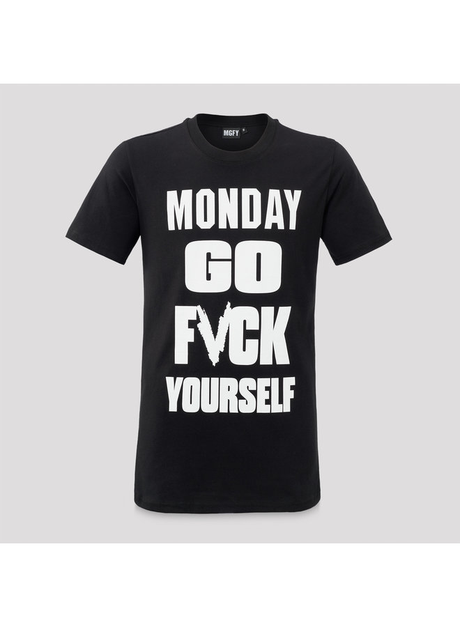 MGFY t-shirt black/white