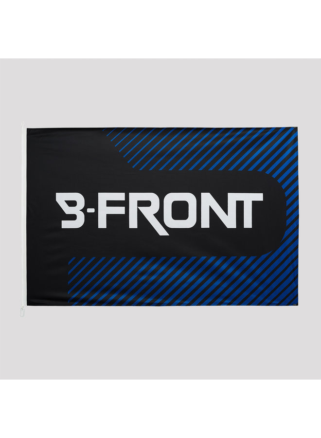 B-Front flag black/blue