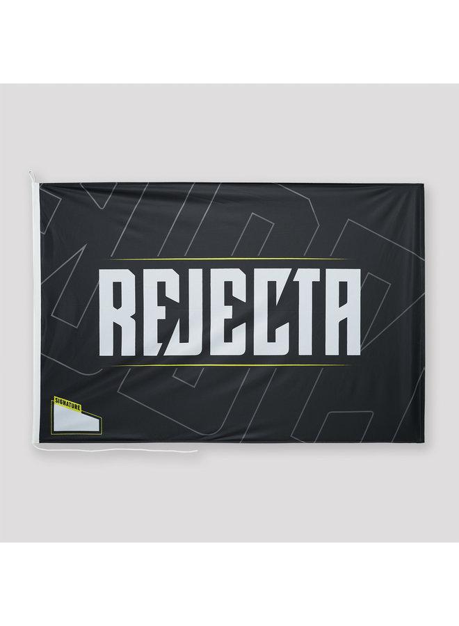 Rejecta flag black/yellow