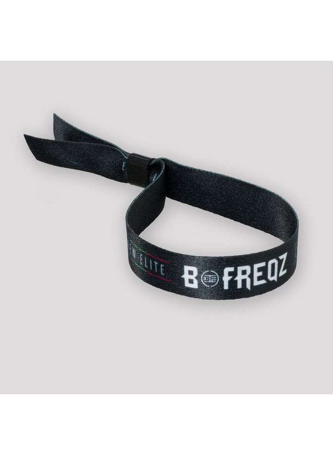 B Freqz woven bracelet black