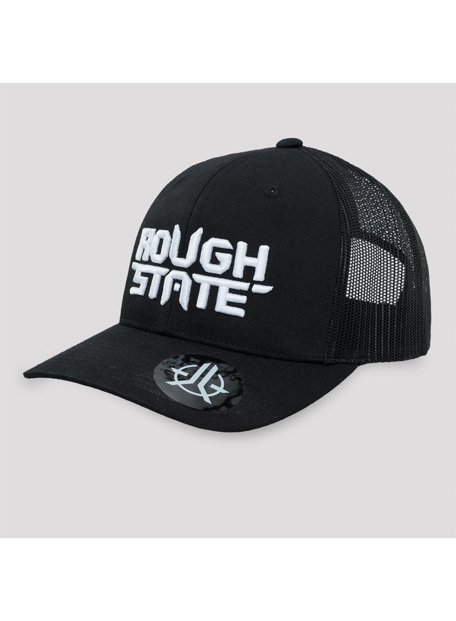Roughstate truckercap black/white
