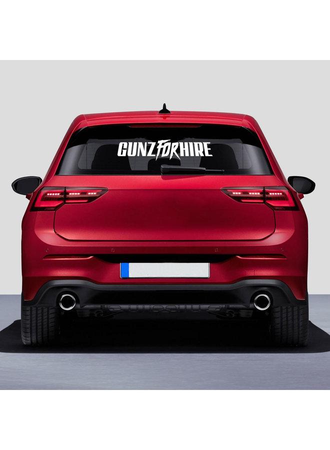 Gunz For Hire car sticker