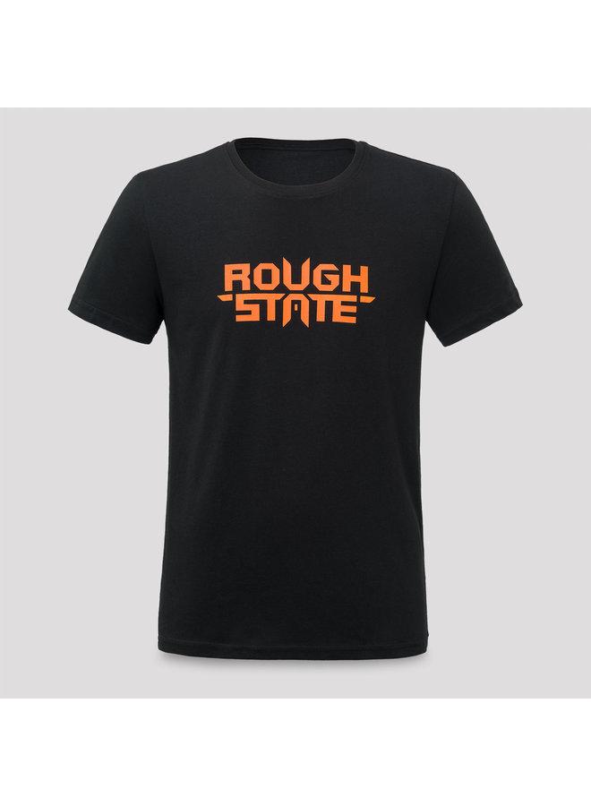 Roughstate t-shirt black/orange