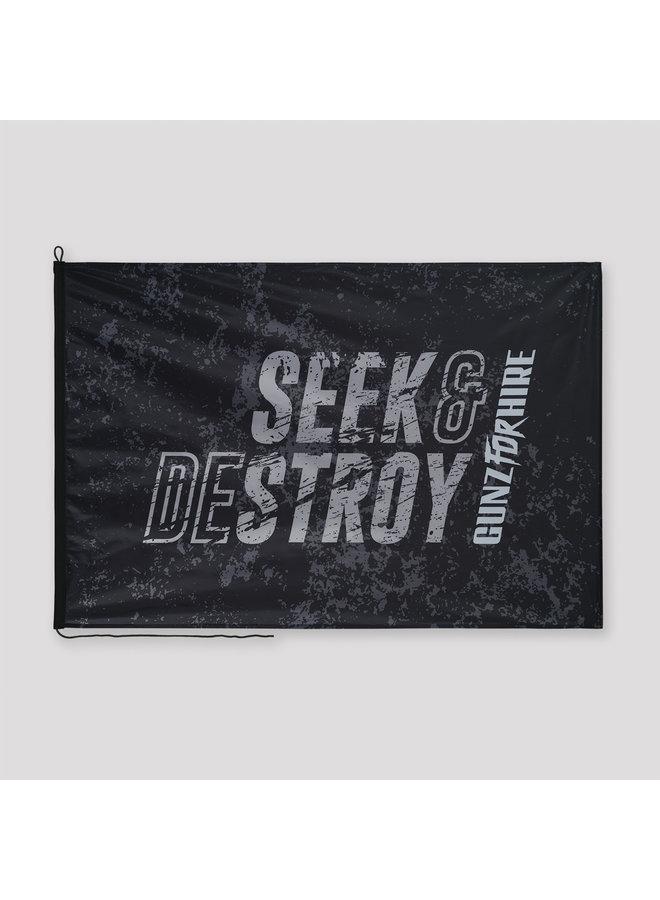 Gunz For Hire Seek & Destroy flag black