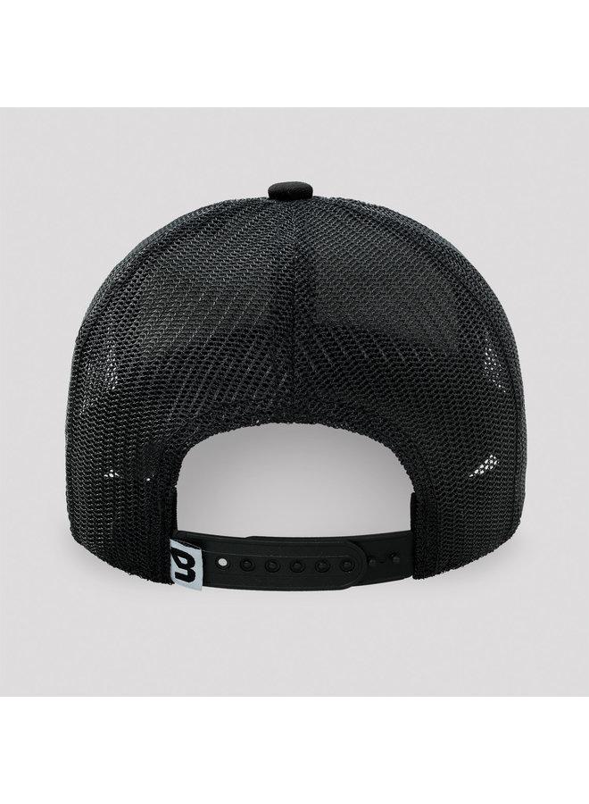 B-front Trucker Cap black/white