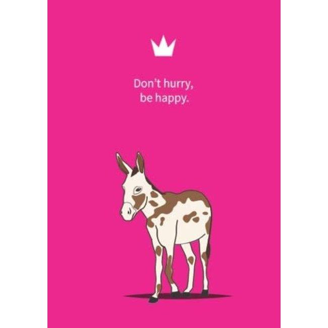 De vliertuin Ezelwenskaart 'happy'
