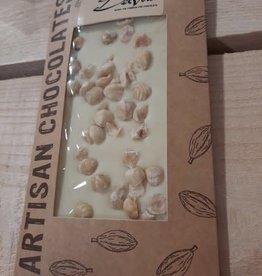 Chocolaterie Delvora Chocoladereep wit met hazelnoten