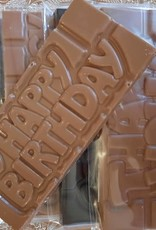 Chocolaterie Delvora Wensreep melkchocolade 'Happy birthday'