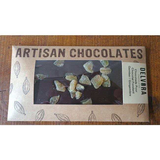 Chocolaterie Delvora Chocoladereep puur met gember