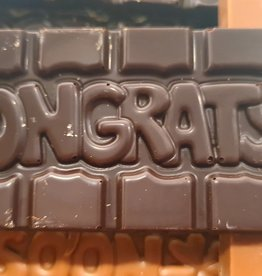 Chocolaterie Delvora Wensreep pure chocolade 'Congrats'