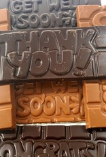 Chocolaterie Delvora Wensreep melkchocolade 'Thank you'