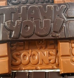 Chocolaterie Delvora Wensreep melkchocolade 'Thank you'
