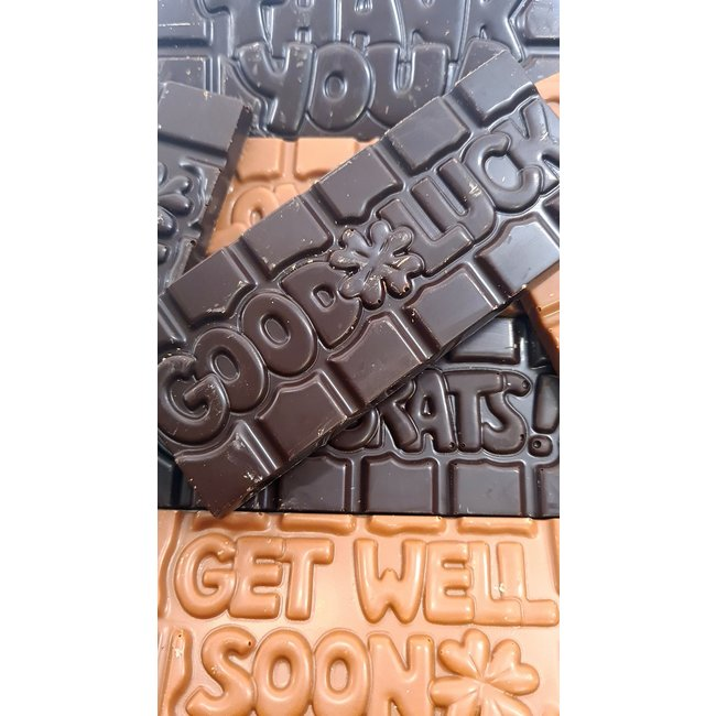 Chocolaterie Delvora Wensreep pure chocolade 'Good luck'