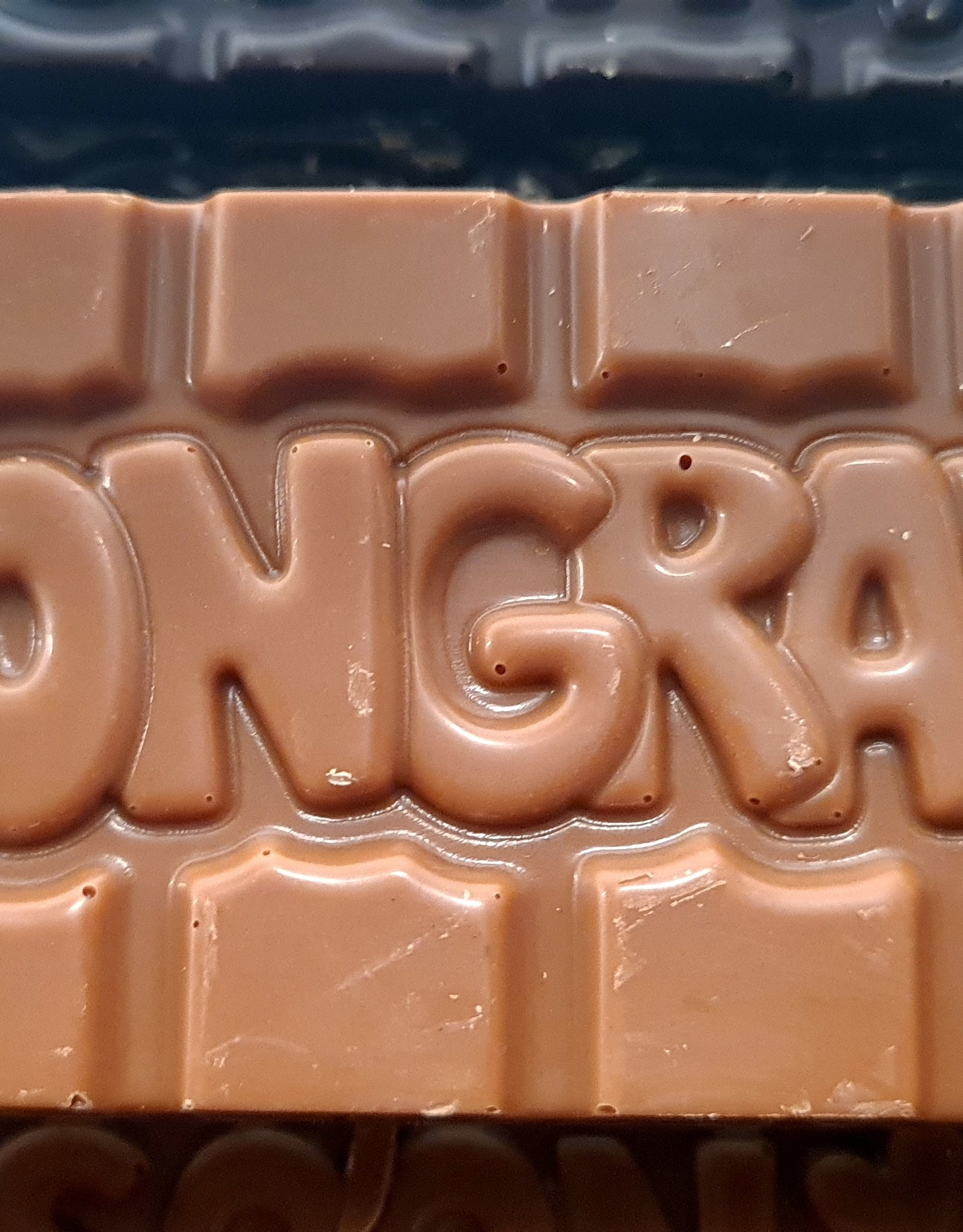 Chocolaterie Delvora Wensreep melkchocolade 'Congrats'