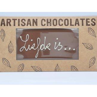 Chocolaterie Delvora Chocoladereep 'Liefde is'