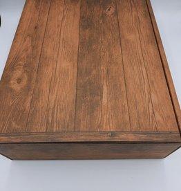 De vliertuin Kartonnen kistje houtmotief 3 flessen