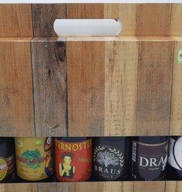 De vliertuin Kartonnen koffer voor 6 bieren